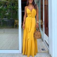 Mode femmes Robe d'été Boho Style sans manches à bretelles femmes filles robes col en v bande fête plage Robe féminine Les Robe