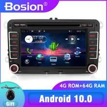 PX6 2din Android 10 reproductor de DVD de coche para Volkswagen GOLF 5 6 POLO PASSAT CC TIGUAN TOURAN EOS SHARAN SCIROCCO transportador T5 CADDY
