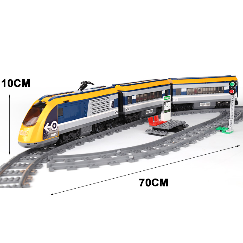 02117 City Train รถไฟโดยสารชุด 60197 อาคารบล็อกอิฐของเล่นเด็กเช่นวันเกิดคริสต์มาสของขวัญ-ใน บล็อก จาก ของเล่นและงานอดิเรก บน   3