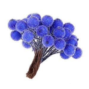 40 stücke Mini Gefälschte Obst Weihnachten Weihnachten Schaum Berry Blumenstrauß Für Hochzeit DIY Scrapbooking Dekorative Kranz Gefälschte Blumen