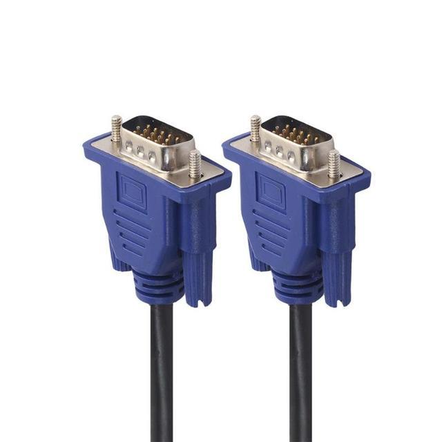 1.5m/3m/5m przedłużacz VGA HD 15 Pin z męskiego na męskie kable VGA przewód drutowy rdzeń miedziany do monitora komputer stancjonarny projektor