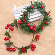 Artificial-Flowers Garland Floral-Wreaths Christmas-Decoration Rattan Wedding Home
