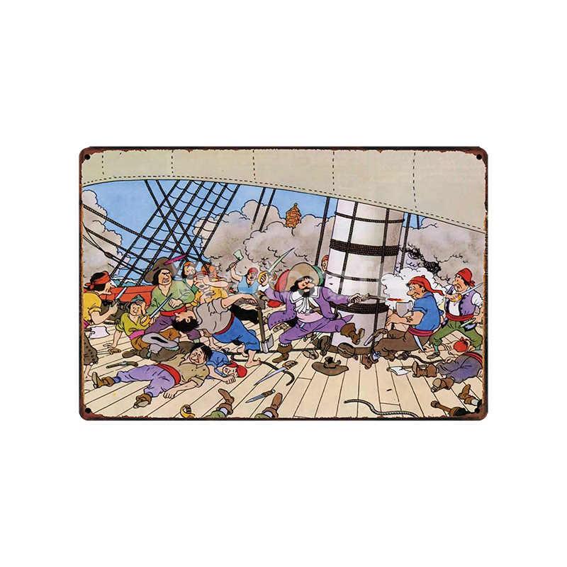 [WellCraft] TINTIN adventures жестяные вывески плакаты художественные винтажные настенные картины индивидуальность пользовательский Декор LT-1826