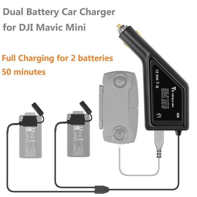 3IN1 Car Charger for DJI Mavic Mini Fast Multi Charger Battery Remote Control Charging Hub For DJI Mavic Mini Drone Accessories