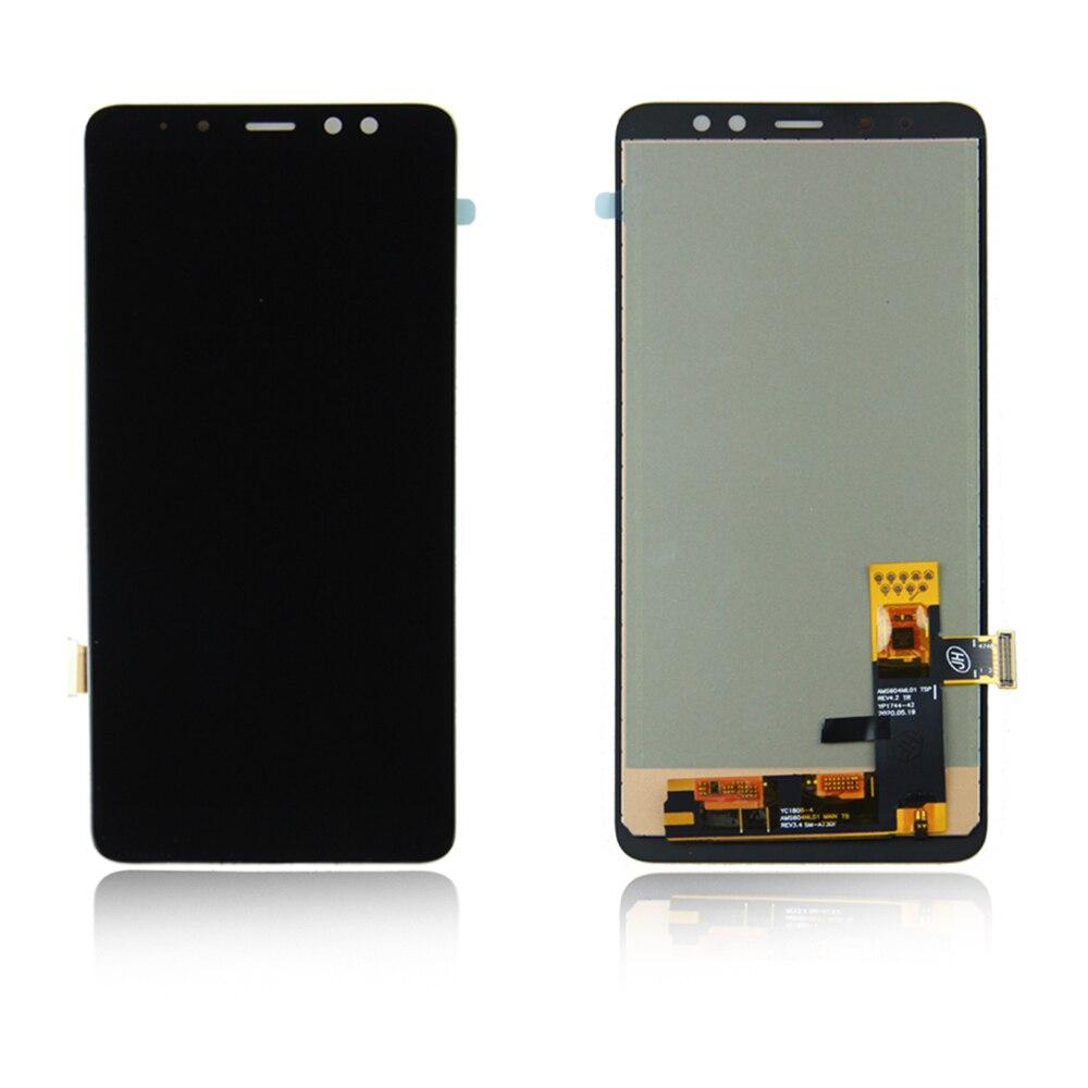 A730F A730F / ДС A730x запасных частей для LCD A730 из Samsung Галактика A8 плюс А8 2018 сенсорным экраном дигитайзер ассамблеи