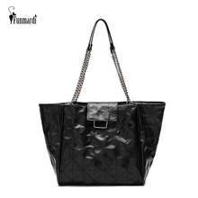 july s song new fashion high capacity pu handbag beautiful high qualitytravel bag for women and family lunch bag FUNMARDI Diamond Pattern PU Leather Handbag High Capacity Women Bag For 2020 New Totes Female Bags Chian Shoulder Bag WLHB3037