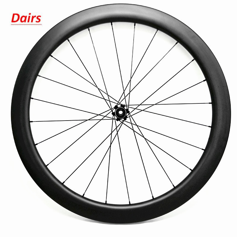 700c carbon road wheels disc brake 50x25mm tubular front wheel 675g CT31 100x12 Straight pull central lock bicycle wheel