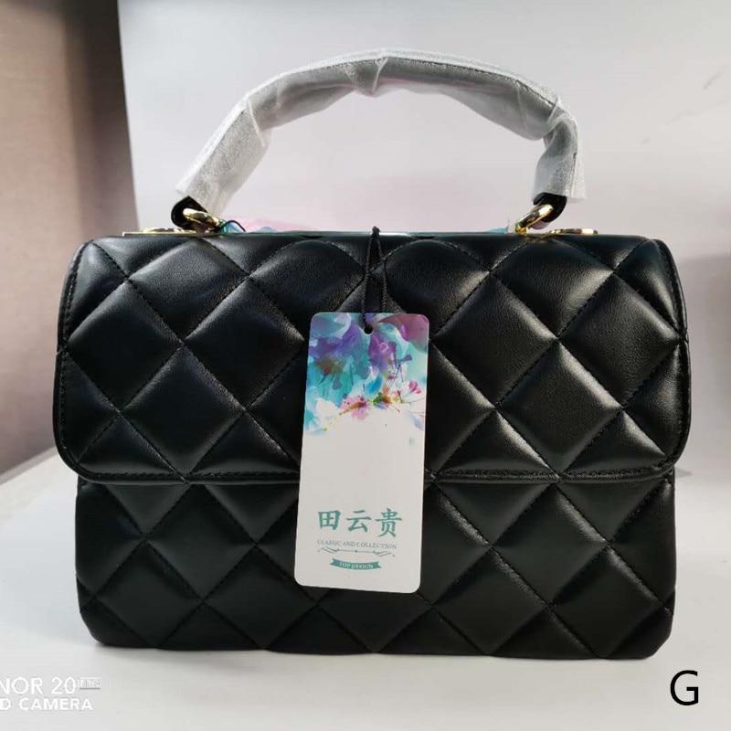 Luxury Handbags Single Shoulder Span Package Lattice Chain Portable Small Square Package Women Bags Designer High Quality Bolsa