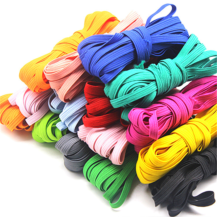 10Meter 3mm 6mm Colorful High-elastic Elastic Bands Rope Rubber Band Line Ribbon Sewing Waist Tape Shoes Tape Clothes Accessory