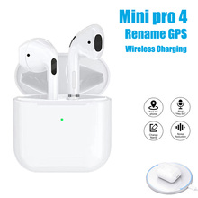 Mini Pro 4 TWS Wireless Bluetooth Earphones Hi-Fi Sports Gam