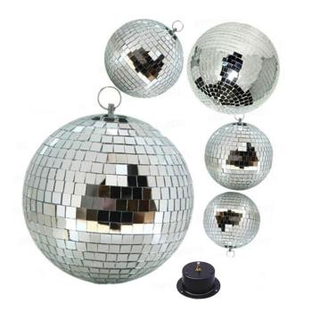 D20cm D25cm D30cm D35cm D40cm D50cm Stage Mirror Ball with Motor, Glass Rotating Mirror Disco Ball for DJ party stage store bar