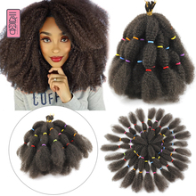 Yunrong Braid Hair 12Inches Afro Kinky Bulk Crochet Braiding 25Strands Synthetic Twist Hair For Black Woman cheap Low Temperature Fiber CN(Origin) Marley Braids 24strands pack 25 strands