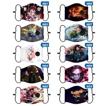 38 Styles Kids Demon Slayer: Kimetsu No Yaiba Cartoon Maskers Soft Cotton Face Masks Reusable Washable Mask Fliter Replaceable 1