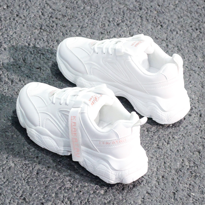 High Quality Sneakers; Ms Platform Sneakers; Leather Leisure Fashion Women's Running Shoes; Large Size 35 To 40