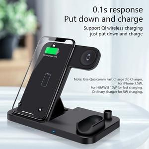 Image 4 - Беспроводное зарядное устройство 4 в 1, 10 Вт, быстрая зарядка для iPhone 11, 11pro, XS, XR, Xs Max, 8Plus, Apple Watch 5, 4, 3, 2, Airpods Pro, пенал