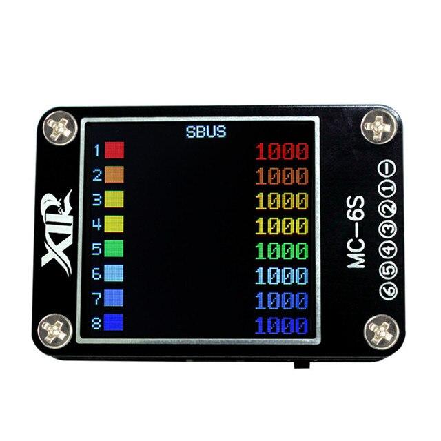 MC 6S 1 6S Lipo pil voltaj denetleyicisi alıcı sinyal test cihazı kontrol S Bus PPM PWM ve DSM uydular alıcı
