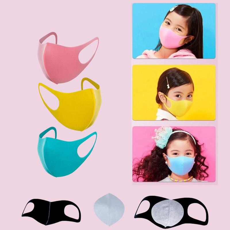 3Pcs/Set Child Face Mask With Masks Filter Pads For Men Women Kids PM2.5 Germ Droplets Smoke Pollution Earloop Washable Mask
