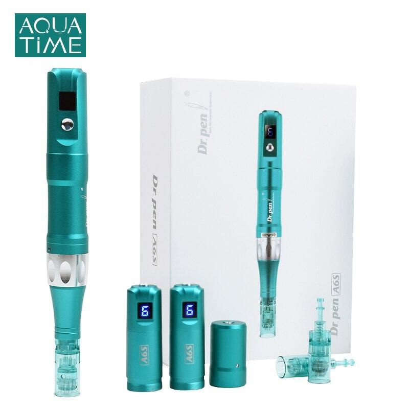 Dr Pen-pluma profesional de microagujas Ultima A6S, herramienta de cuidado de la piel para mesoterapia facial y corporal