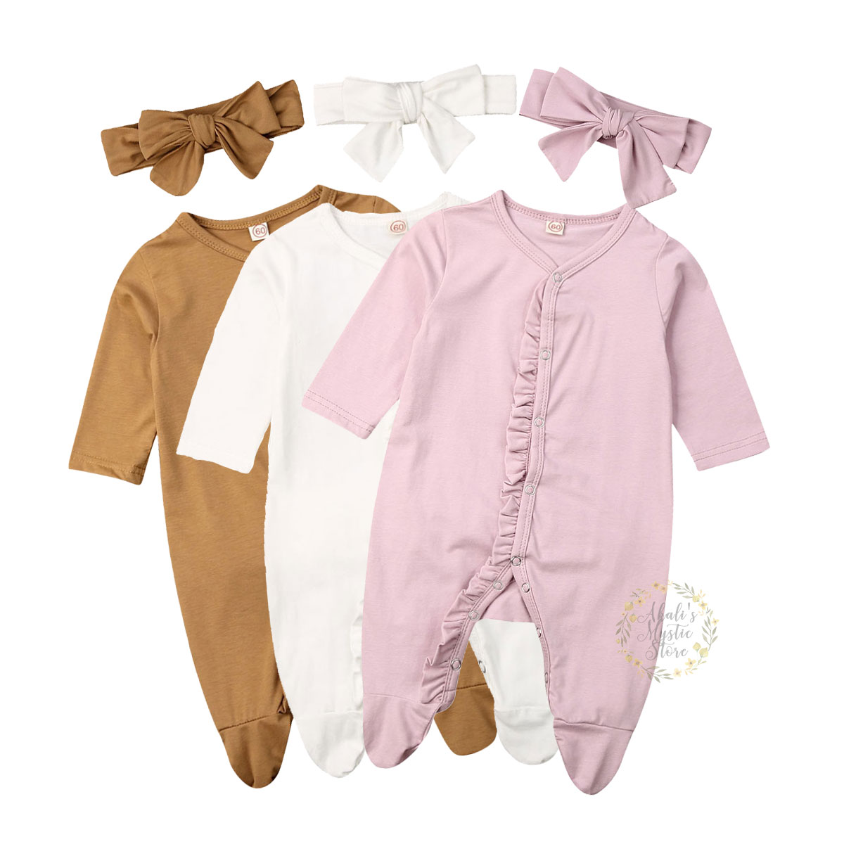 0-12M Newborn Infant Baby Boy Girl Ruffles Romper Long Sleeve Soft Jumpsuit Autumn Spring Baby Girl Solid Costumes Baby Clothes