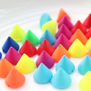 Image 2 - 800 adet karışık renkler Neon koni sivri akrilik boya karışık renkler 10mm