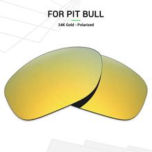 Mryok POLARIZED Replacement Lenses for Oakley Pit Bull Sunglasses 24K Gold