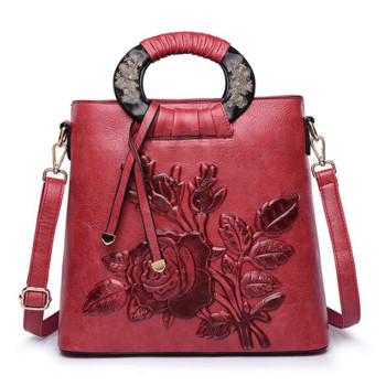 Red Luxury Handbags Women Bags Designer High Quality Leather Handbag Fashion Shoulder Crossbody Bag for Women 2020 Tote Bag qiwang genuine leather bag women luxury handbags women bags designer chain shoulder bags for women new year red bag quality gift