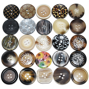 10PCs 25mm Large Mat Round Fashion Resin Buttons Sewing Accessories For Coats Suit Decorative Fancy Button Handmade 4 Holes