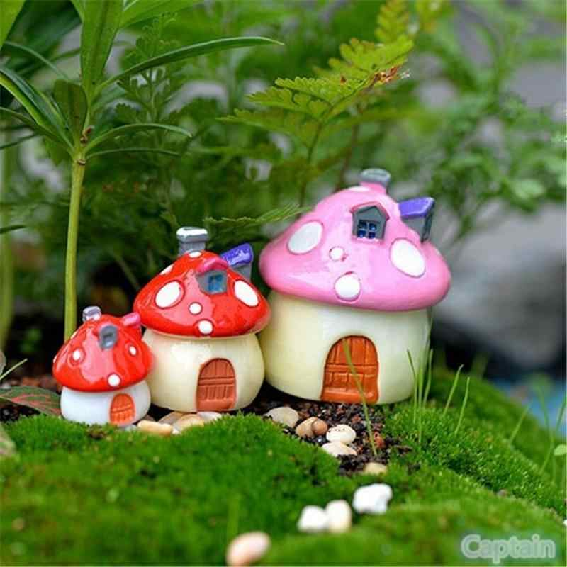 Vintage Home Decor Kunstmatige Micro Landschap Decoratie Paddestoel Miniatuur Huis Fairy Garden Mini Craft