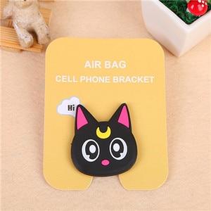Image 4 - Mobile Phone Holder for Iphone X 7 Universal Mobile Phone Bracket Cartoon Airbag Mobile Phone Telescopic Bracket Phone Grip