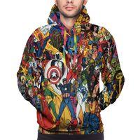 NOISYDESIGNS Marvel Logo Comic Printed Hoodies Male Autumn Outwear Men Casual Hoodies Sweatshirts Clothes Streetwear Hoody Tops