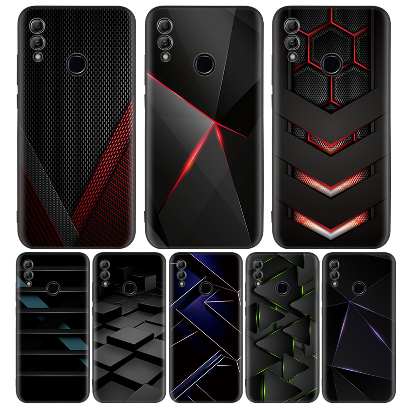 Black Light Dark Figures Black Cover Phone <font><b>Case</b></font> for <font><b>Huawei</b></font> Y9 Y5 Y6 Y7 2019 <font><b>Honor</b></font> 10 9 Lite 9X 8X 8S 8A 7S 7A 10i <font><b>20i</b></font> V20 Coque image