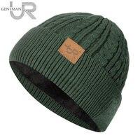 Neue Unisex Winter Hut Hinzufügen Pelz Gefüttert Cap Flanging Stilvolle Weichen Mütze Hut Für Männer Frauen Warme Dicke Outdoor Streetwear gestrickte Hut