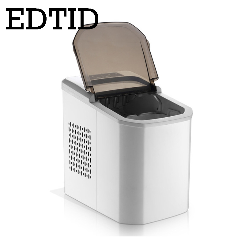 EDTID Commercial Automatic Electric Ice Maker Bullet Round Block Ice Cube Making Machine Small Bar Coffee Shop EU US