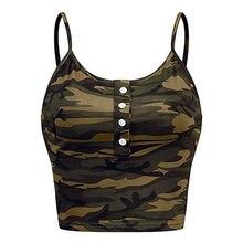 2021 femmes Imprimer haut À La Mode Femmes Décontracté Camo D'armée Camouflage Réservoir Sans Manches O-cou Mince Gilet T-shirts Grande Taille haut femme