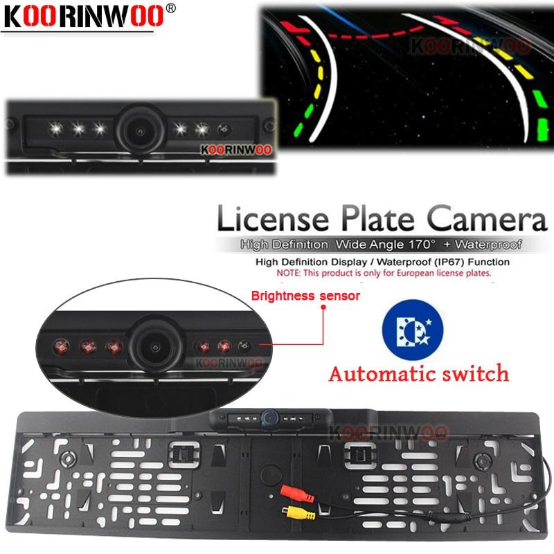 Koorinwoo Patente Auto Telaio In Lamiera Intelligente Dinamica Traiettoria Tracce Videocamera Vista Posteriore HD Auto Reverse Backup Parco Assistenza