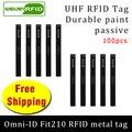 UHF RFID Метка omni-ID Fit210 915 м 868 МГц Alien H3 EPC 100 шт. Бесплатная доставка прочная краска длинные и тонкие пассивные RFID метки