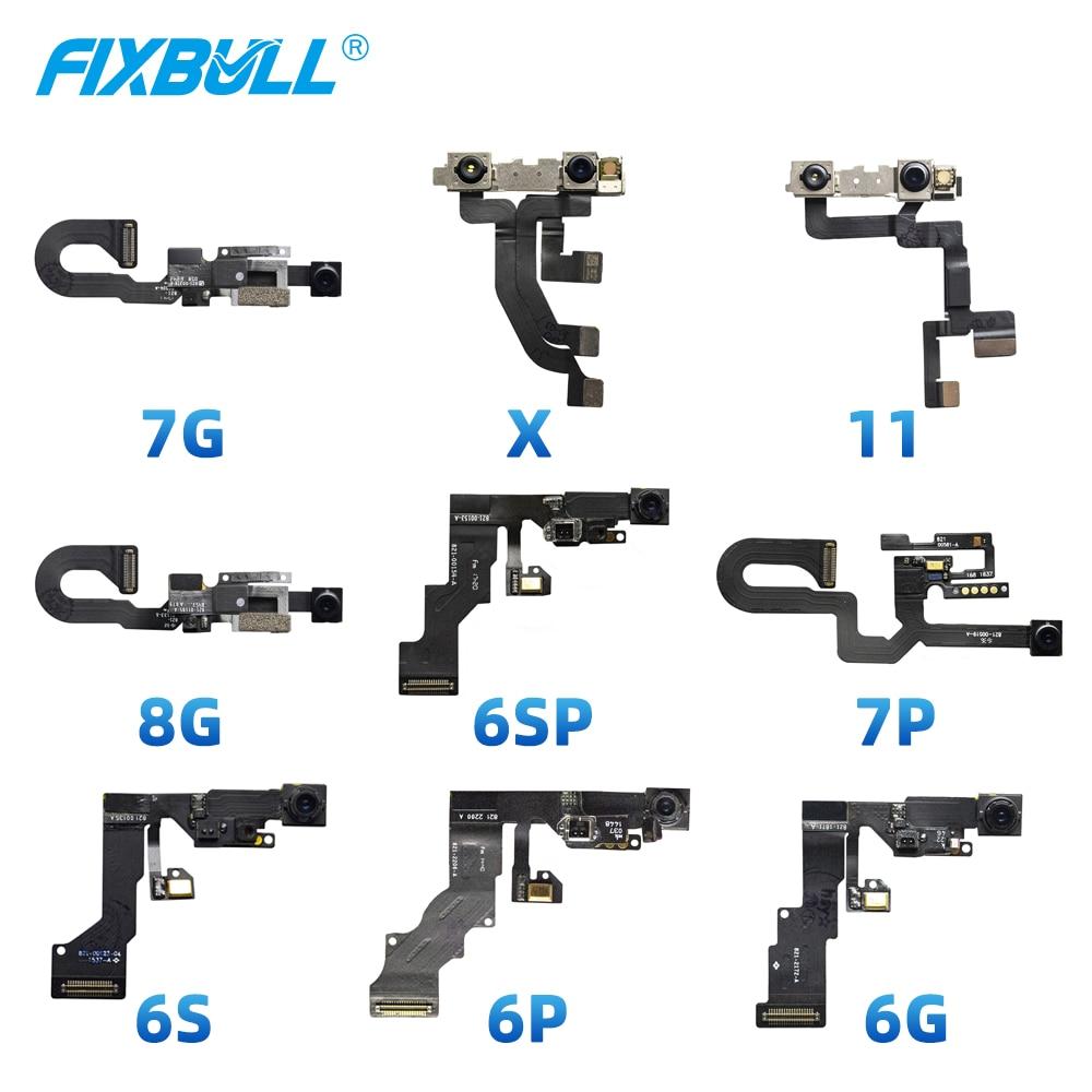 FIXBULL 1pcs Original de la cámara del Frente Flex Cable para iPhone 6 iPhone 6 6S 7 7 Plus 5 5S 5C 6 X s X Xr Xs Max 11 pequeños frente a frente de la Lente de la cámara Jyrkior, soporte de fijación PCB para teléfono móvil, placa base, Plataforma de mantenimiento de soldadura para iPhone 5/5S/6/6P/7/7P/8/XR, reparación de soldadura