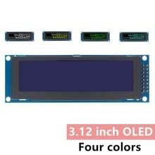 """Prawdziwy wyświetlacz OLED 3.12 """"256*64 25664 punktów graficzny wyświetlacz z modułem LCD LCM ekran SSD1322 kontroler wsparcie SPI"""