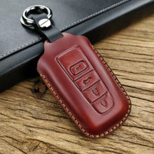 Leather key cover For Toyota CHR C-HR Camry 2018 2019 RAV4 Prado 2017 2018 Prius Corolla RAV car accessories car key case new for toyota camry corolla c hr chr prado 2018 aluminum alloy leather automobile car remote key case cover shell protector