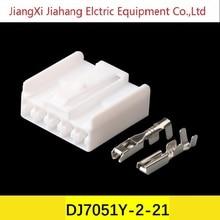 Бесплатная доставка 200sets DJ7051Y-2-21 электрические разъемы для автомобилей Фольксваген,БМВ,Ауди,Тойота,Ниссан