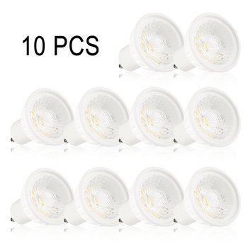 10 Pcs/Set LED Spot Light Super Bright Ceramic Spotlight Household GU10 85-265V LED Bulbs Durable Home Light