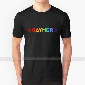 Gaymer футболка пользовательский дизайн хлопок для мужчин и женщин футболка летние топы Pride ЛГБТ гей радуга геймер видео игра джойстик кнопка D