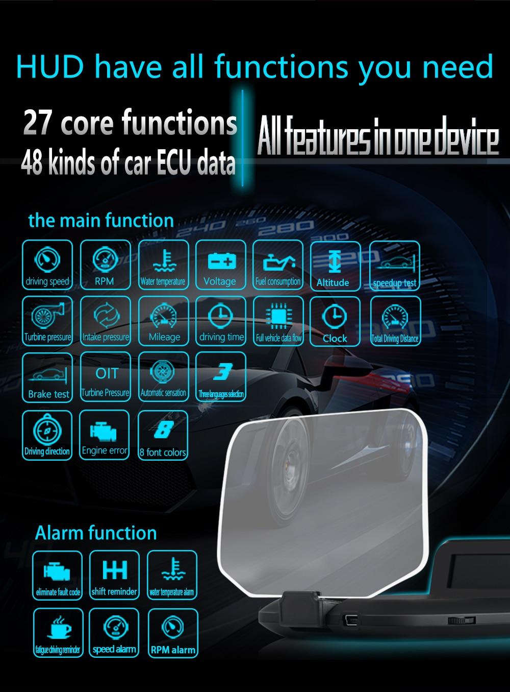 C1 HUD Mirror Car Head Up Display (8)