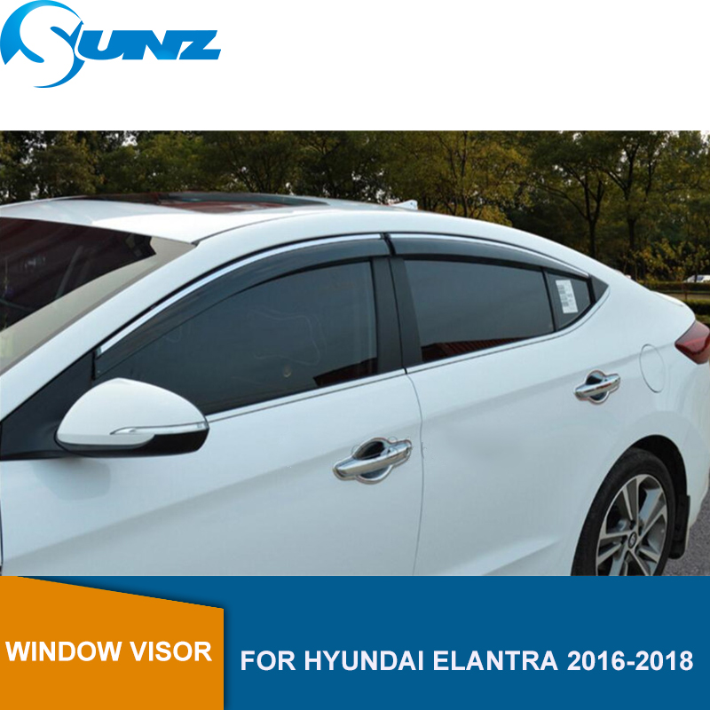 4PCS Window Visor Sun Rain Guard Shade For Hyundai Tucson 2016-2018 US Stock