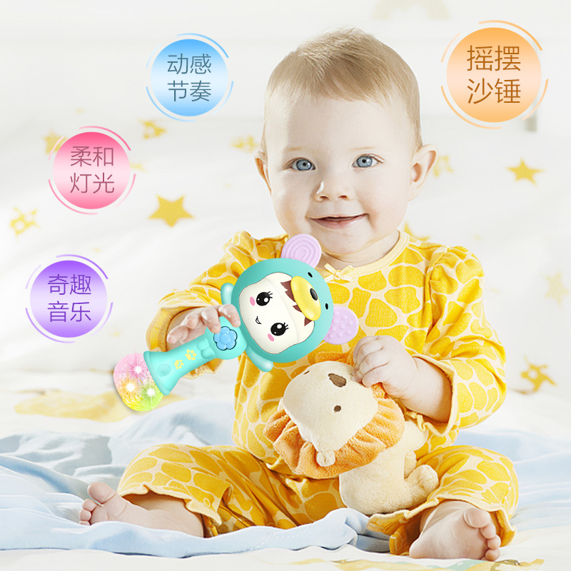 BABY'S Rattle Toy 0-1-Year-Old Hand Rattle Music Sand Hammer Jie Zou Bang 0-3-6-12 Early Childhood Baby Educational