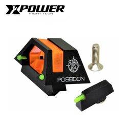XPOWER TM GLOCK 17/34 Cíclope vista bajo luz visión puede caber Kublai P1 airsoft/gel juegos de Venta caliente de las industrias