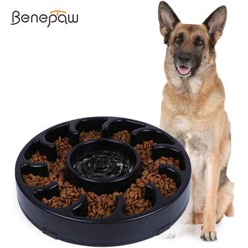 Benesaw wysokiej jakości pies miska miska dla psa trwałe ekologiczne antypoślizgowe powolnego jedzenia miska dla zwierząt dla małych średnich duże psy Puppy jedzenie tanie i dobre opinie Benepaw Miski Uniwersalny Z tworzywa sztucznego Eco-friendly Nonslip Durable