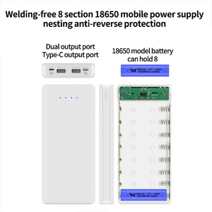 Image 3 - 18650 Power Bank Box Portable 5V DIY Dual USB Battery Shell 18650 Battery Case with LED Light Type C Mobile Charging Case