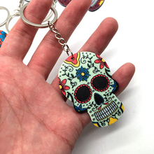 2020 New Especialy Sugar Skull Keychain Halloween Gift For Women And Men Bag Car Handmade Key Chain Ring Creative Accessoies new retro punk skull ring rock car crack halloween men and women personality ring jewelry gift