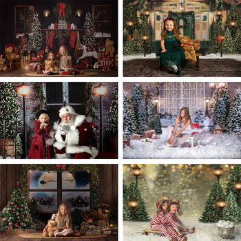 Mehofond Photography Background Christmas Tree Fireplace White Snow Wood Floor Backdrop for Photo Studio Baby Portrait Photocall allenjoy photography background christmas tree gifts sofa wood floor backdrop photocall customize vinyl photographic